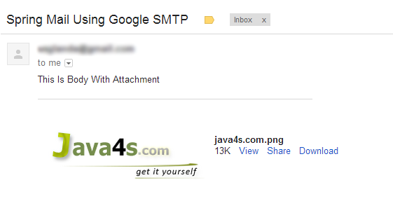 Spring Send Email With Attachment Using Gmail SMTP - Example