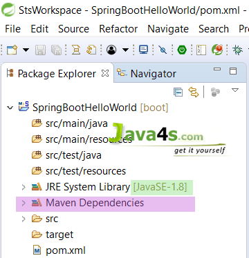 Spring-Boot-Hello-World-Directory-Structure-After-Maven