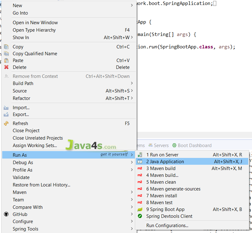Spring-Boot-Hello-World-Run-As-Java-Application